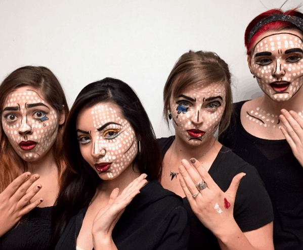 IBI Makeup Diploma students show off pop-art inspired looks made with MUFE tools
