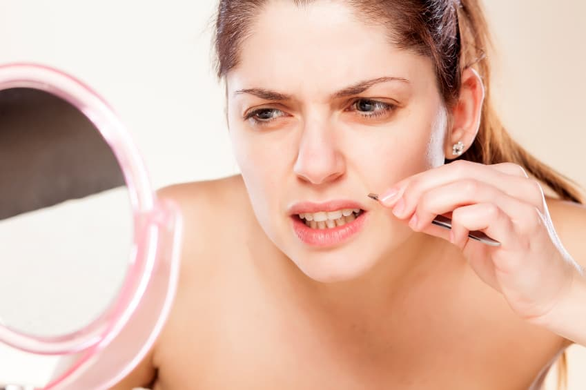 Upper lip hair is the most common reason clients go under the laser