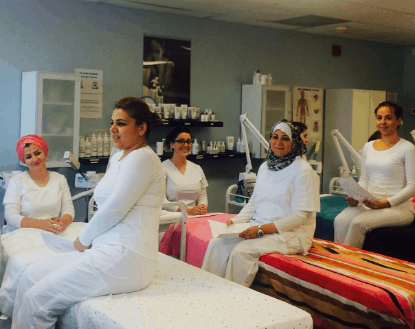 IBI medical aesthetics students conduct skincare consultations at our Mississauga clinic