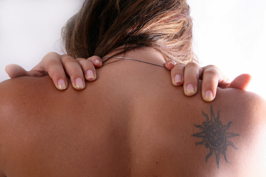 Tattoos on the upper back can be easy to remove due to strong circulation throughout the torso