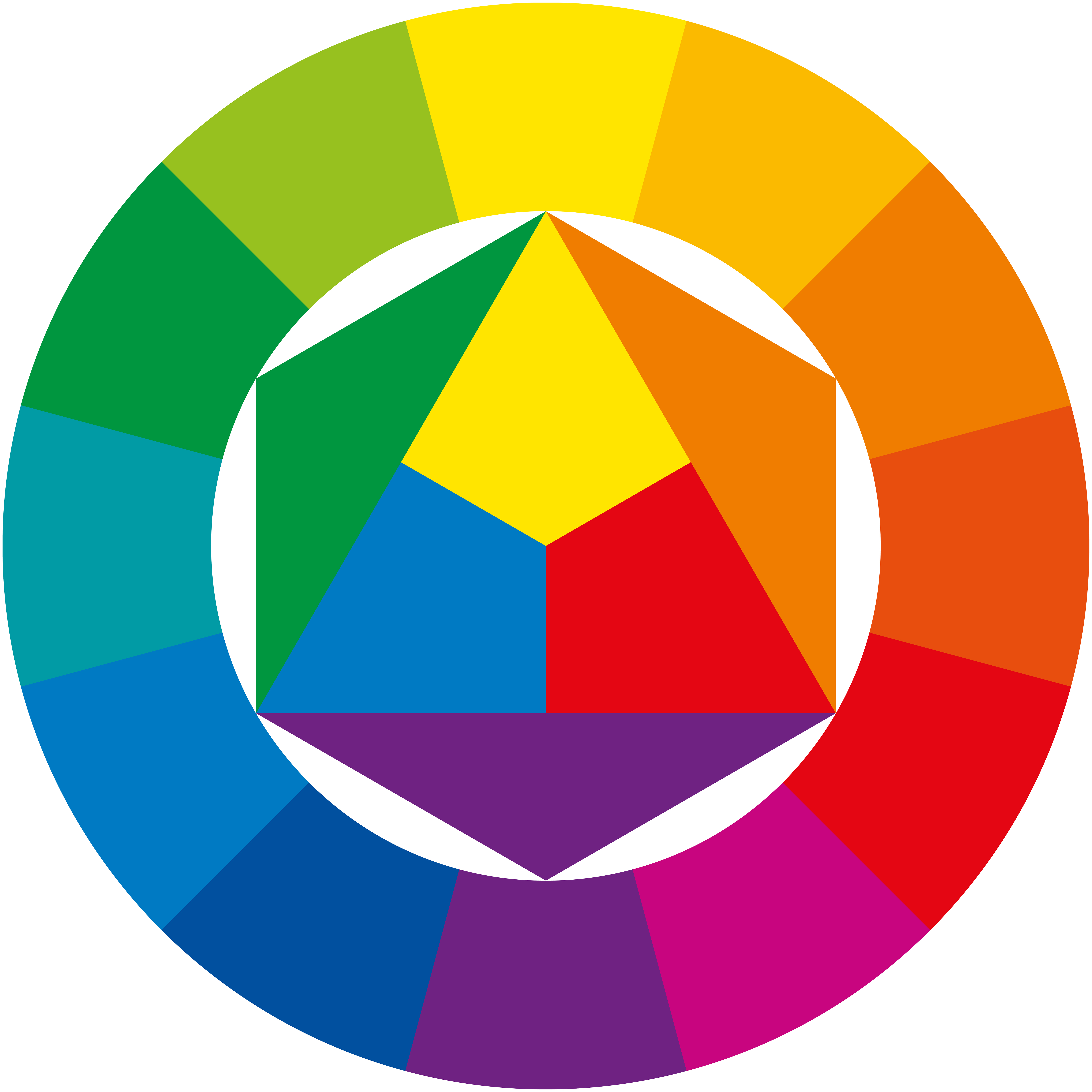 The colour wheel helps makeup artists identify what colour corrector to apply